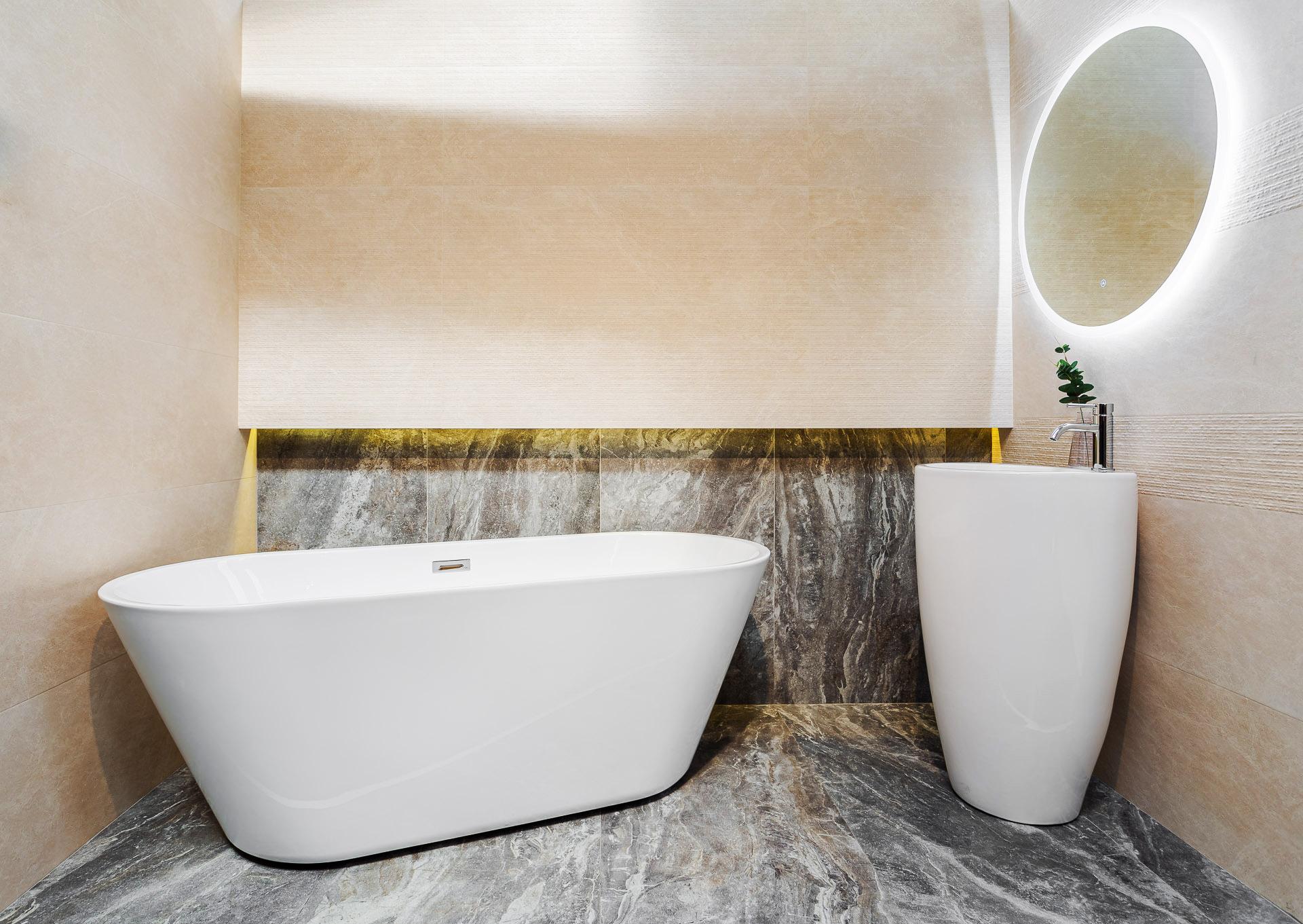 amenajare baie cu cadă freestanding