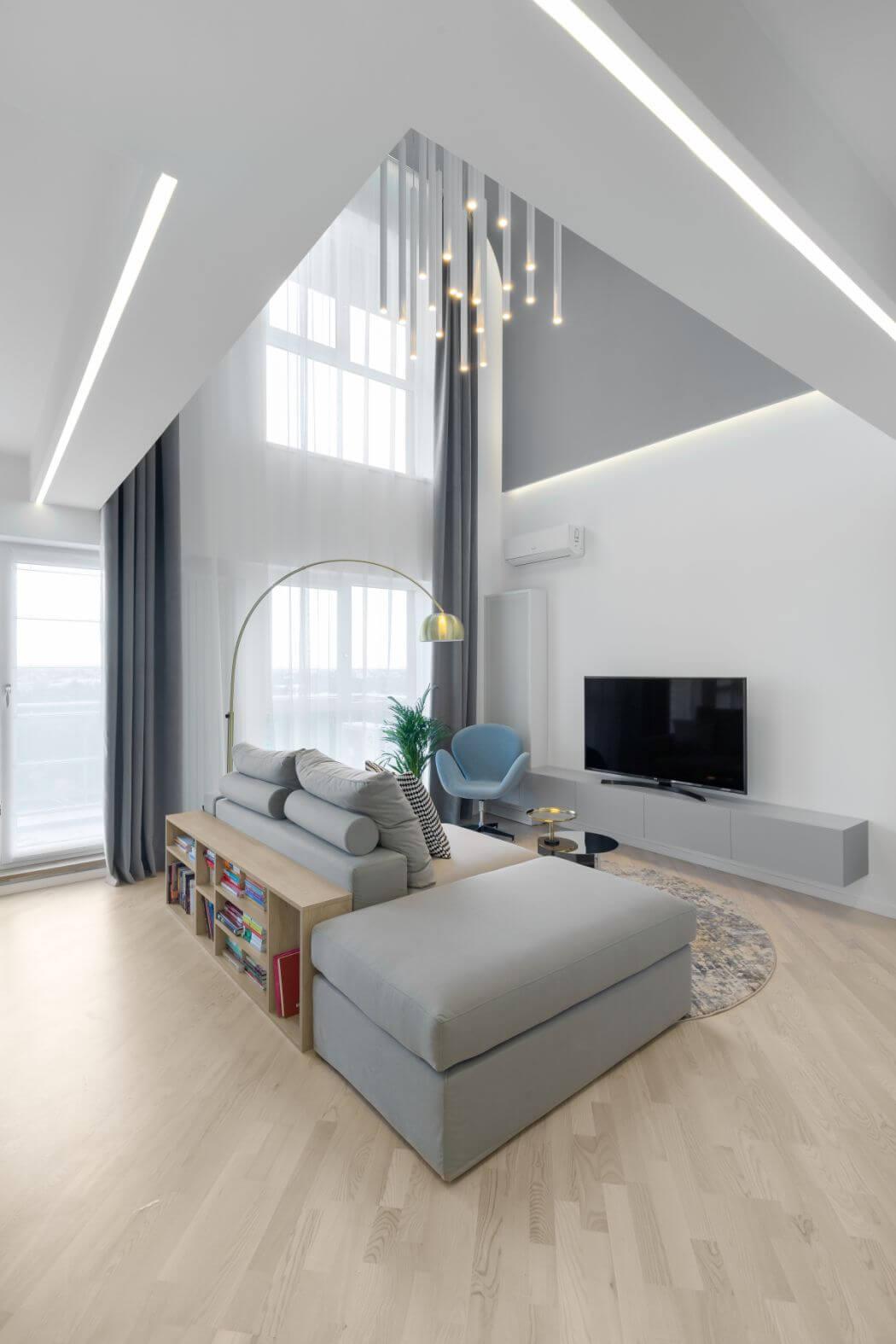 Amenajare Duplex living pe doua etaje