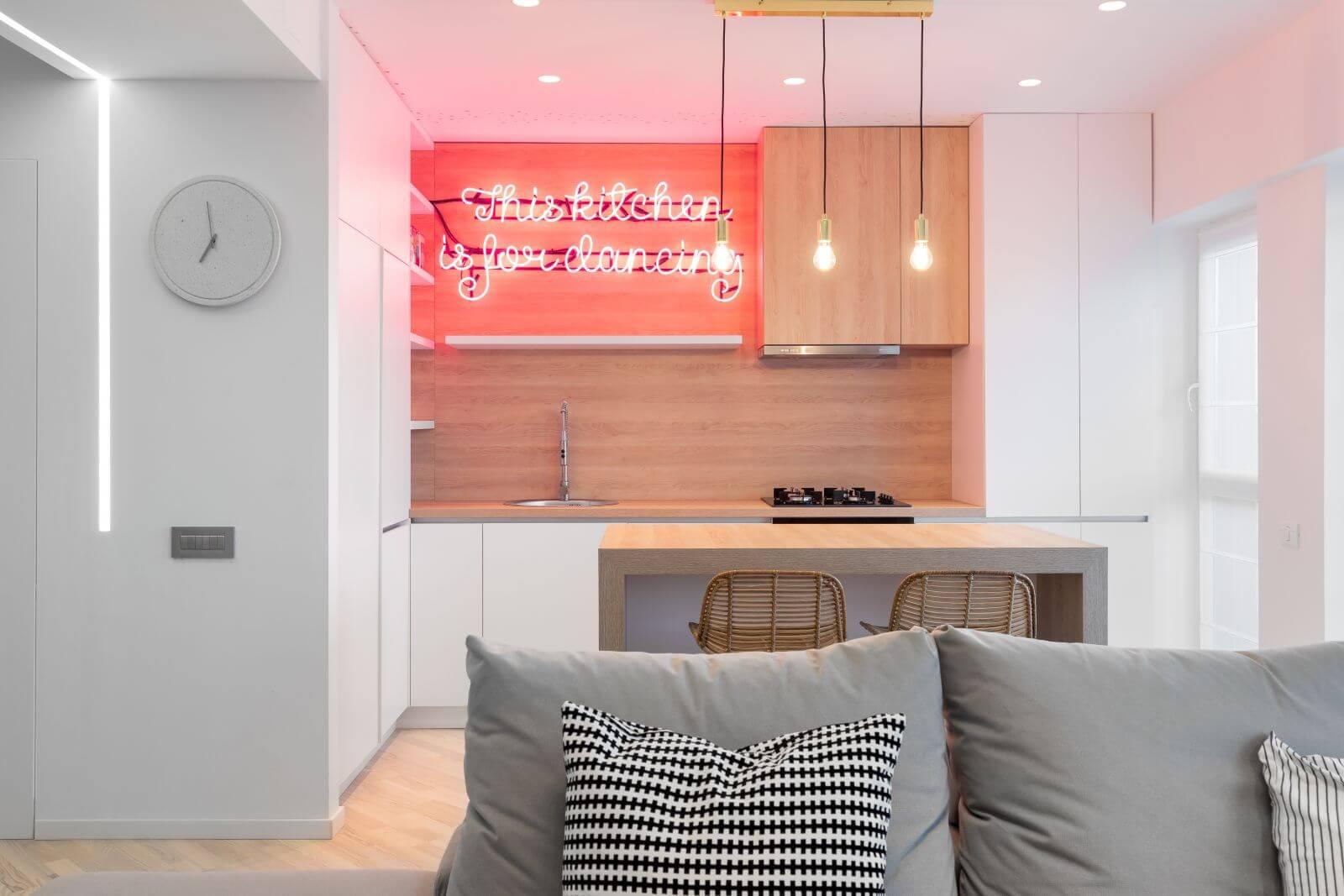 amenajare duplex în stil minimalist