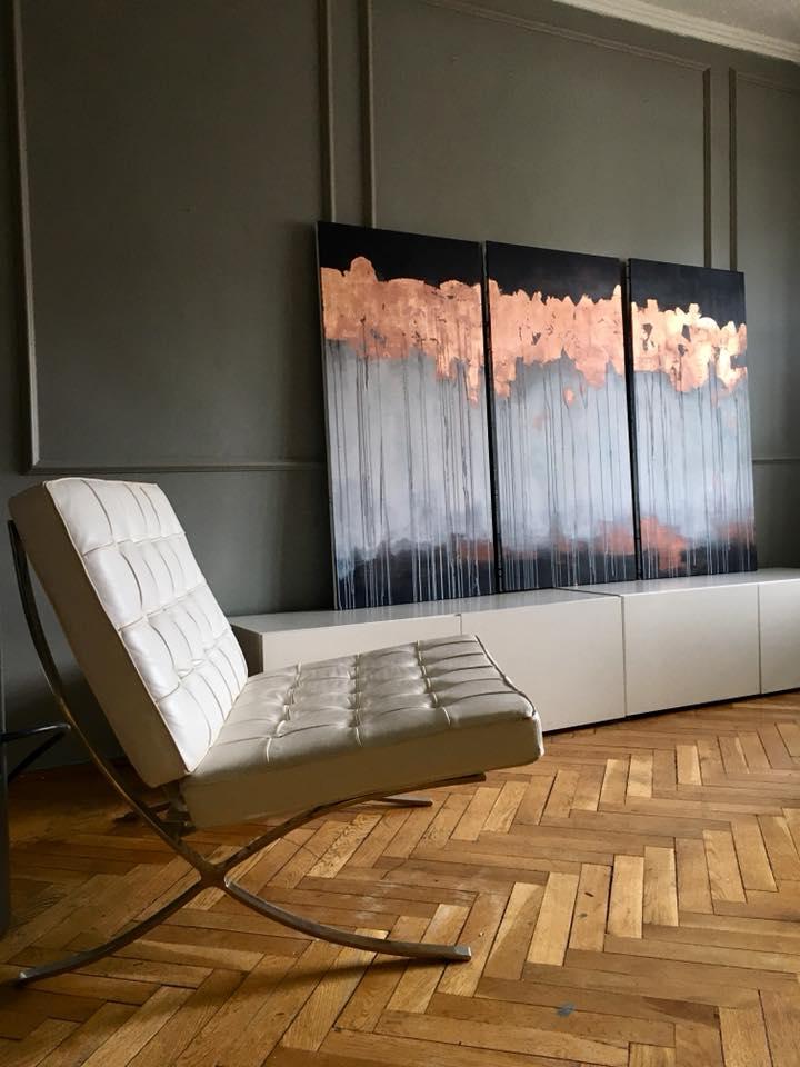 Amenajare living Barcelona Chair