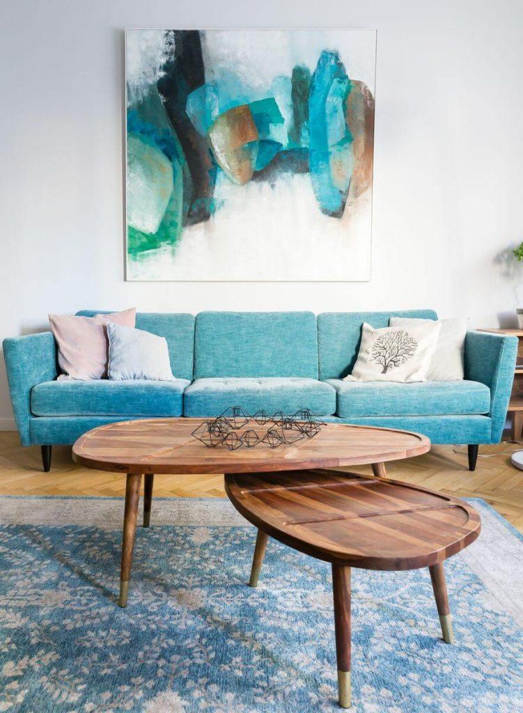 amenajare retro minimalism living