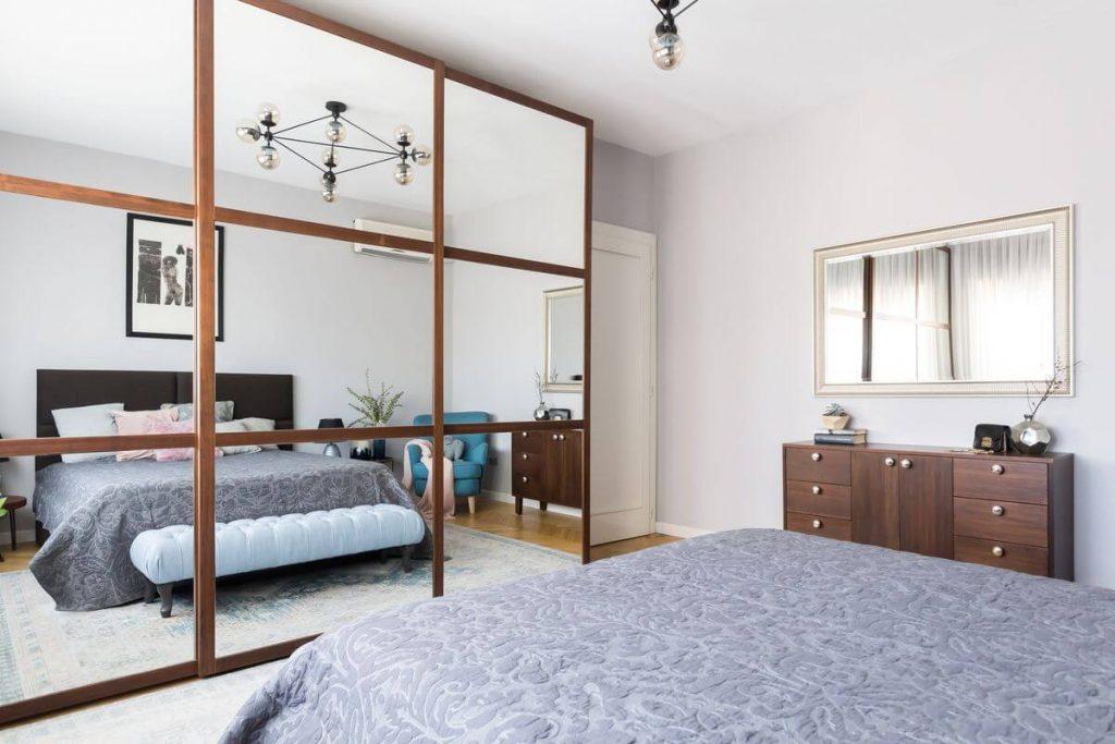 dormitor retro minimalist