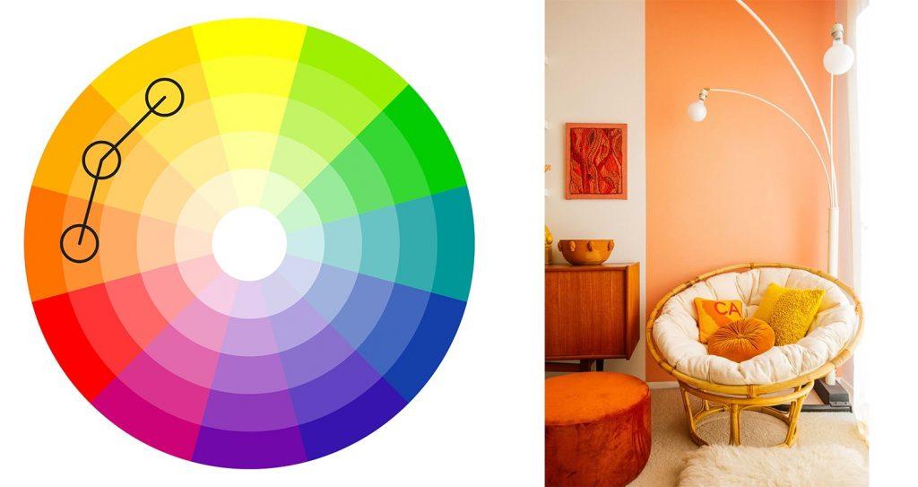 alegerea culorilor potrivite - culori analog