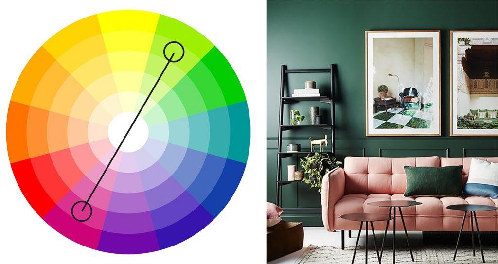 alegerea culorilor potrivite - roz-verde