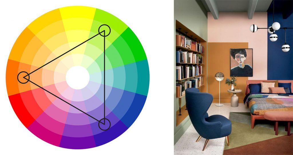alegerea culorilor potrivite - triade de culori