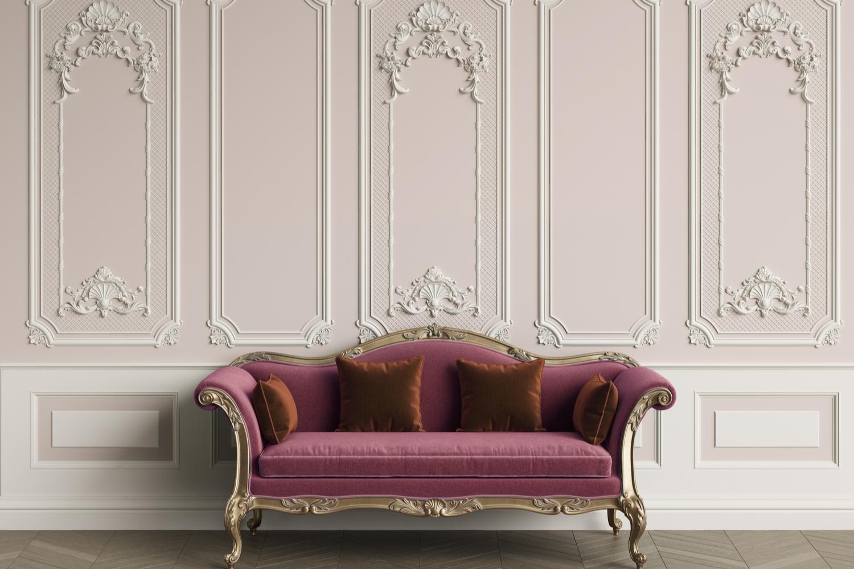 amenajare sufragerie clasică canapea