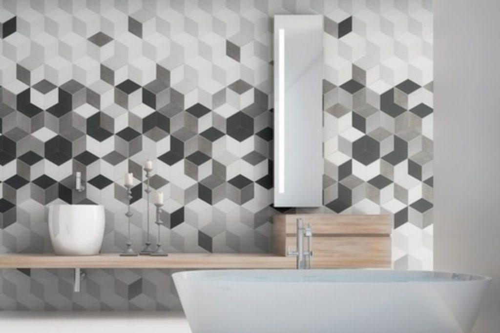 ceramica hexagonala 3d
