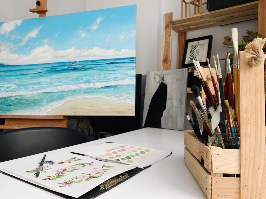 home tour - atelier pictură