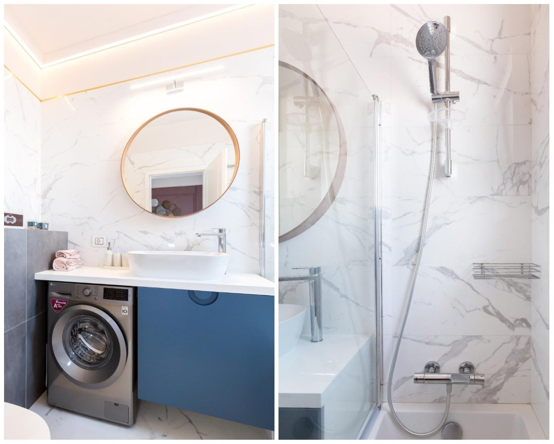 Amenajare baie cu marmură - Acasă la Natalia Berezovskaia - Creativ Interior