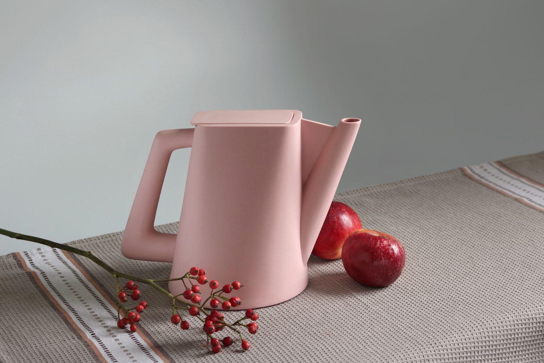 Ceainic Doric Roz Mat - Cadou de Crăciun - Ceramic Sparrow