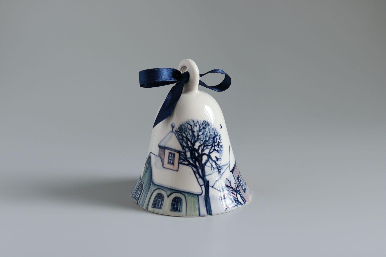 Clopoței ceramici pictați - Cadou de Crăciun - Ceramic Sparrow (1)