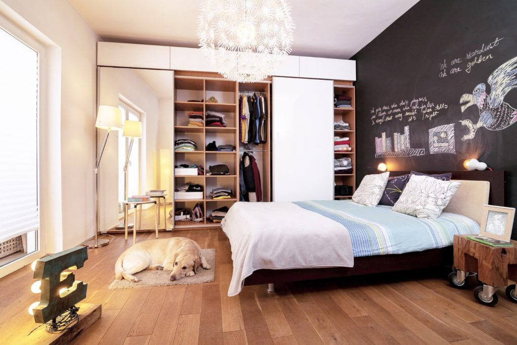 Dormitor amenajare 2 camere