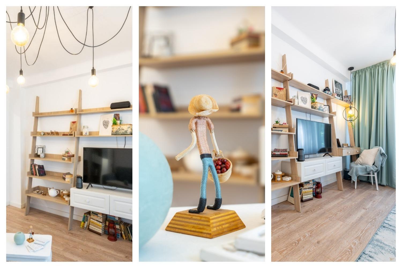 Living - Amenajare apartament două camere - arh. Cristiana Zgripcea