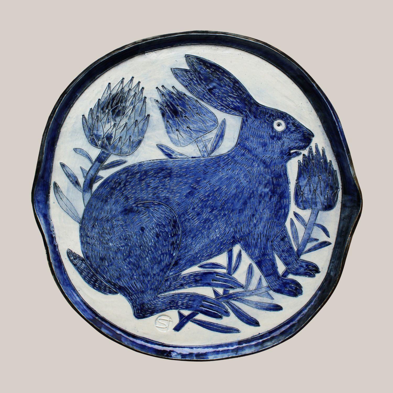 Platou de porțelan cu iepure Decartis ceramics