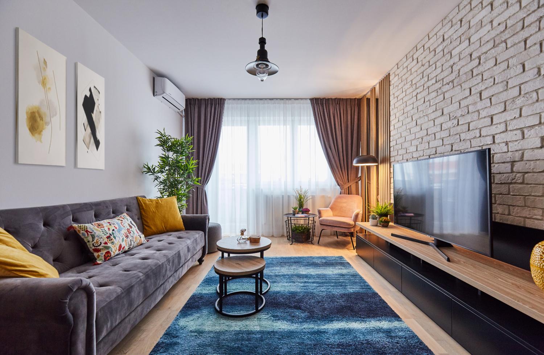 amenajare apartament cu 2 camere
