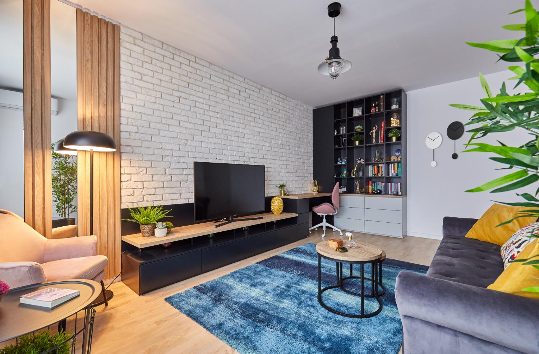 amenajare apartament cu 2 camere 50 mp