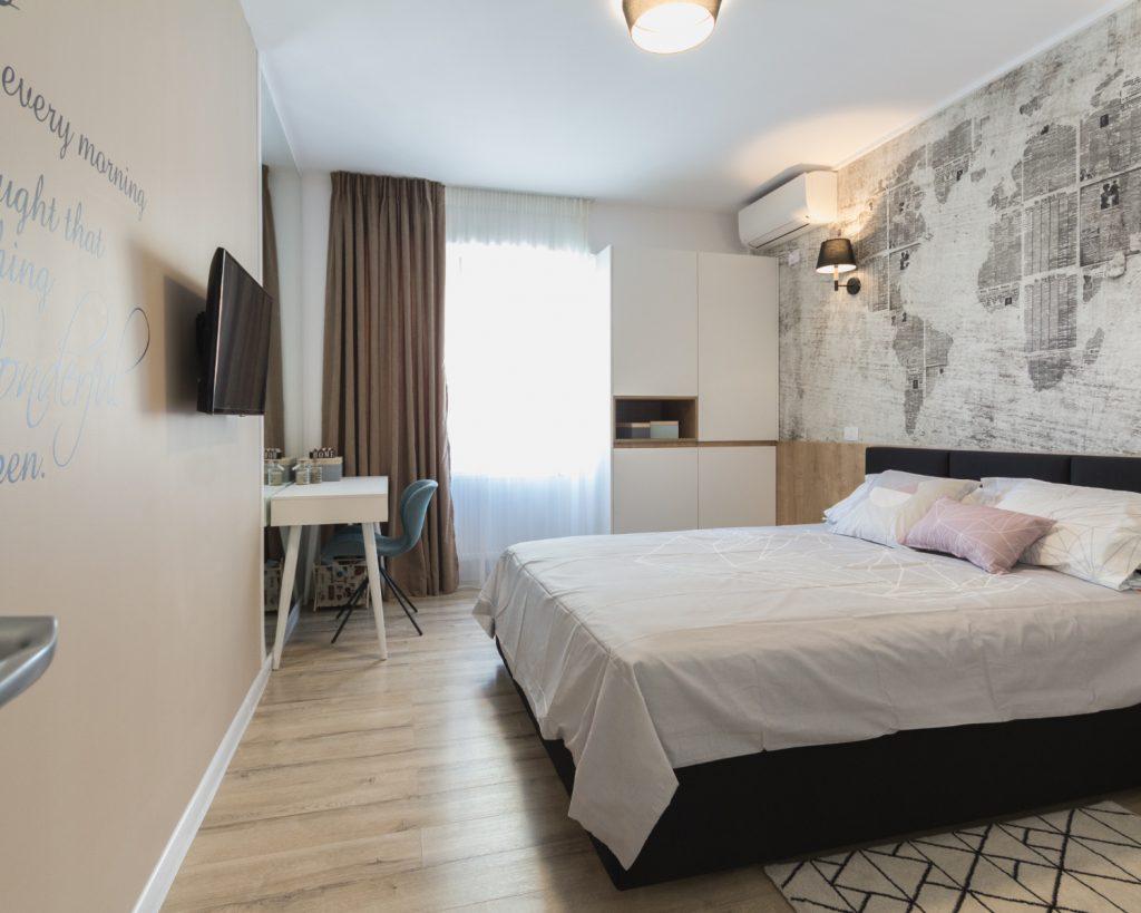 Amenajare open space dormitor matrimonial