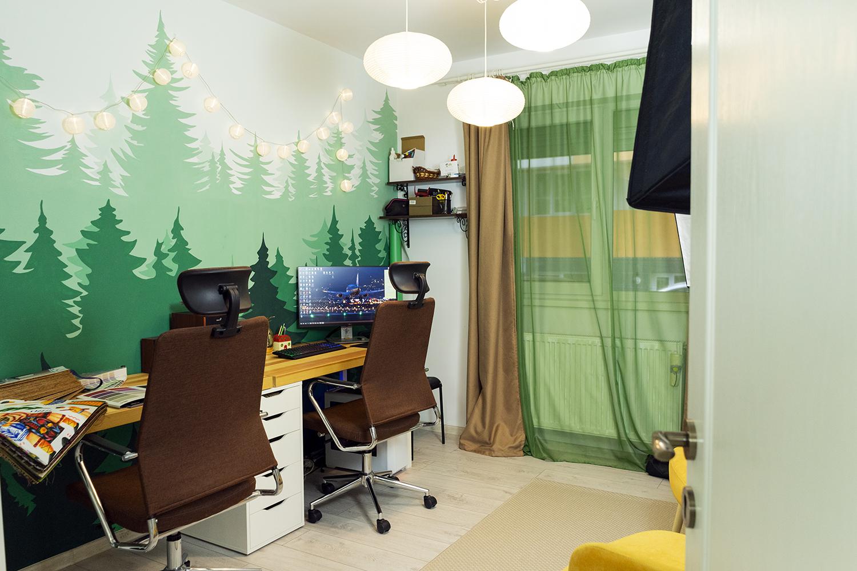 apartament popesti leordeni vivico perete birou