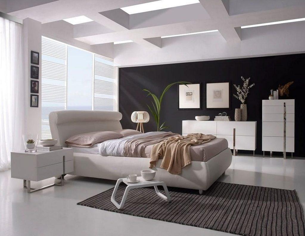 noptiere albe în stil minimalist