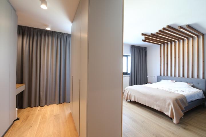 dormitor penthouse cu trei camere