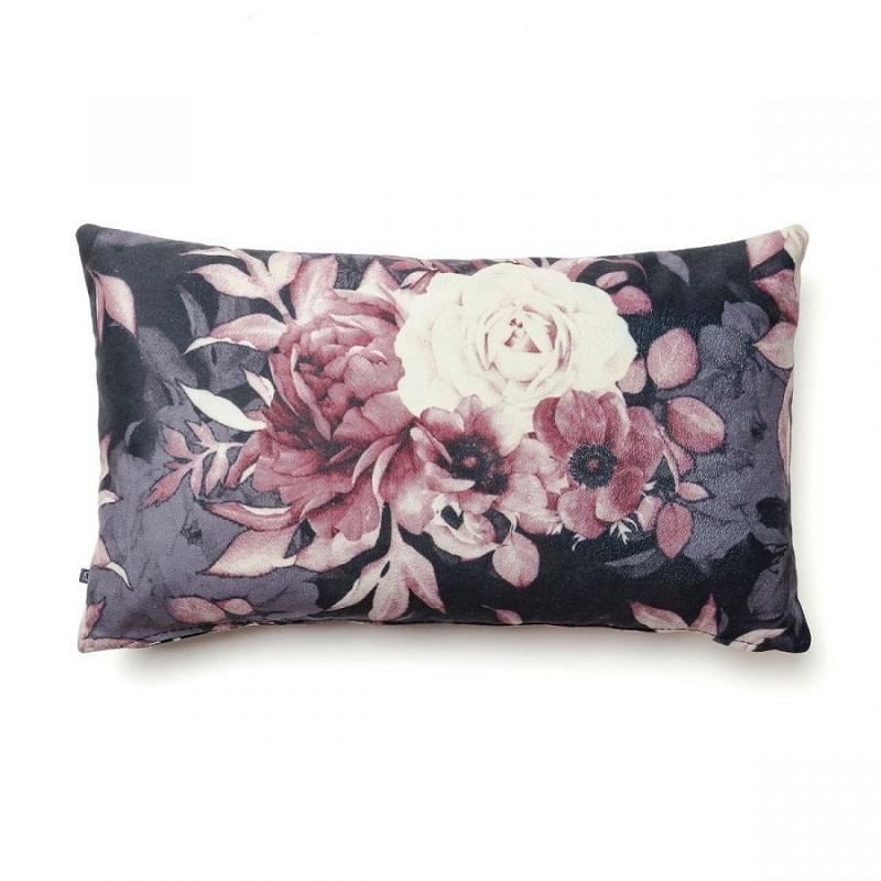 Husă de pernă cu model floral imprimat