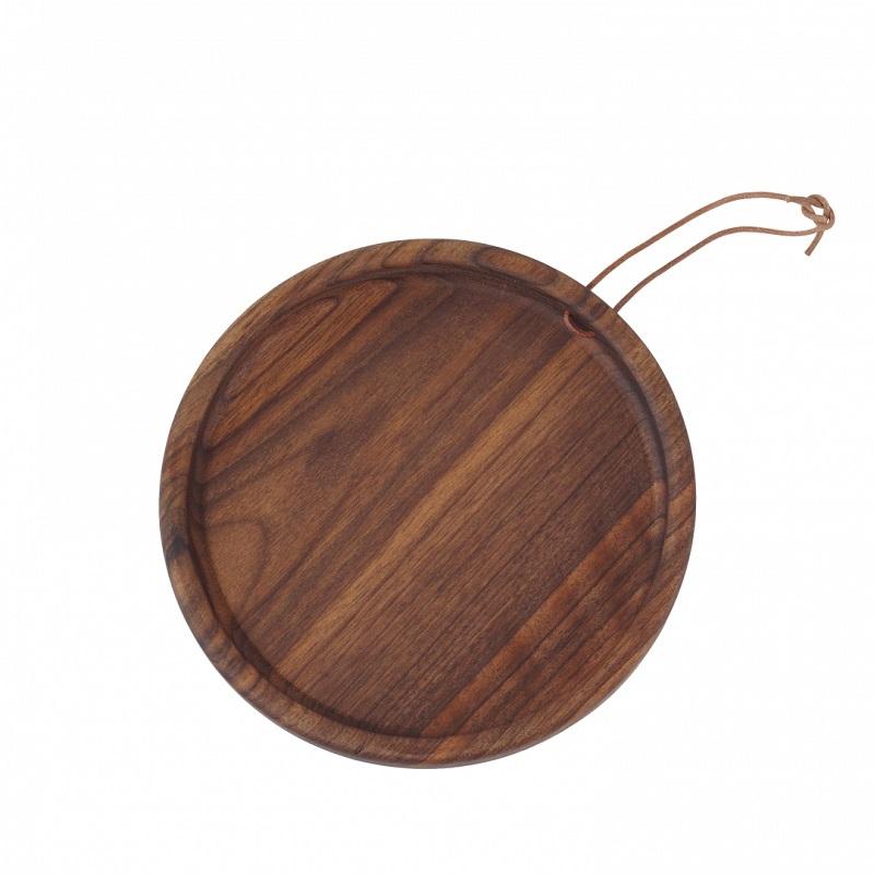 Tavă rotundă lemn de nuc Ubikubi
