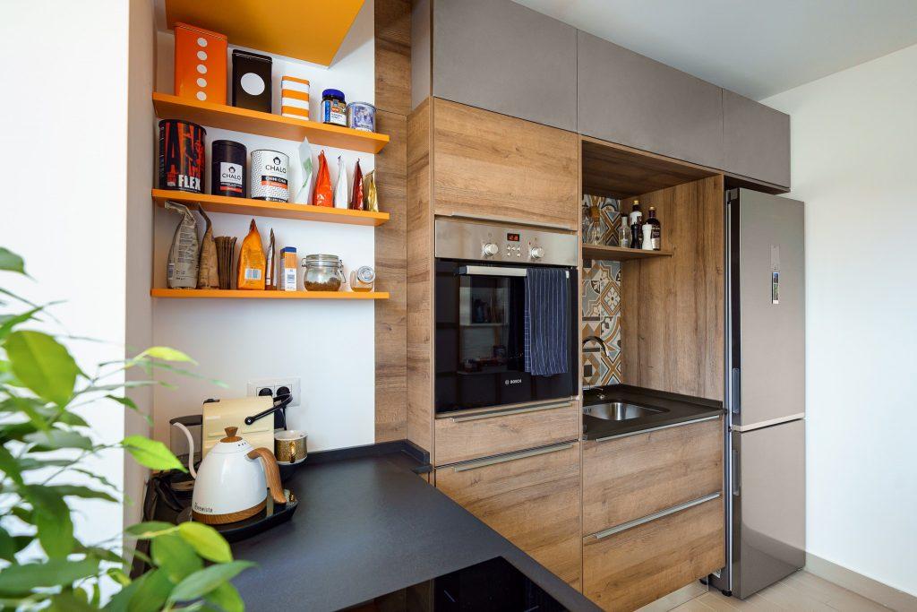 amenajare apartament bucuresti bucatarie din lemn