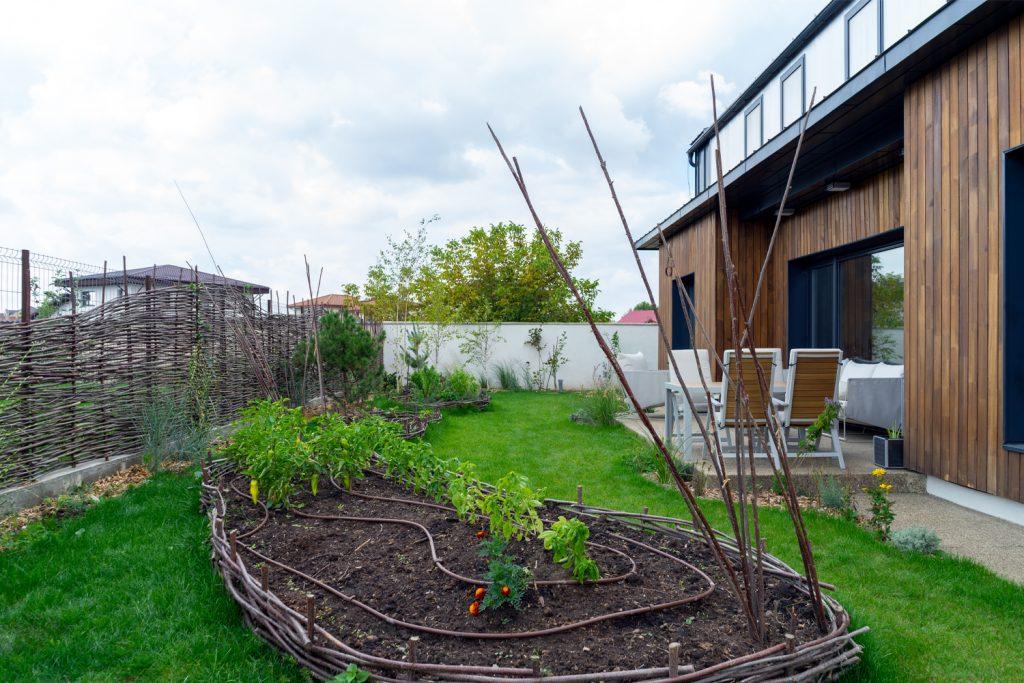 casă pasivă otopeni grădină