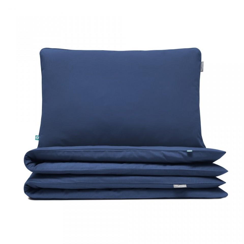 lenjerie-de-pat-albastra-din-bumbac-basic-navy-blue-double-mumla_84789