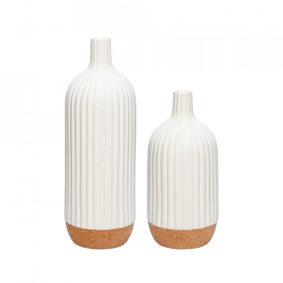 set-2-vaze-albe-maro-din-ceramica-si-pluta-martina-hubsch_169978