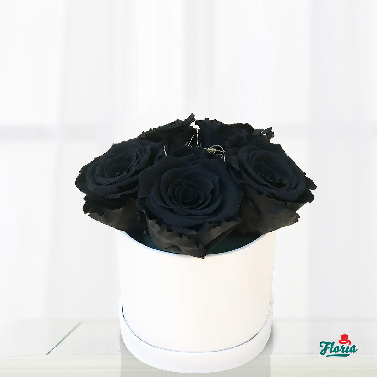 trandafiri criogenați negri