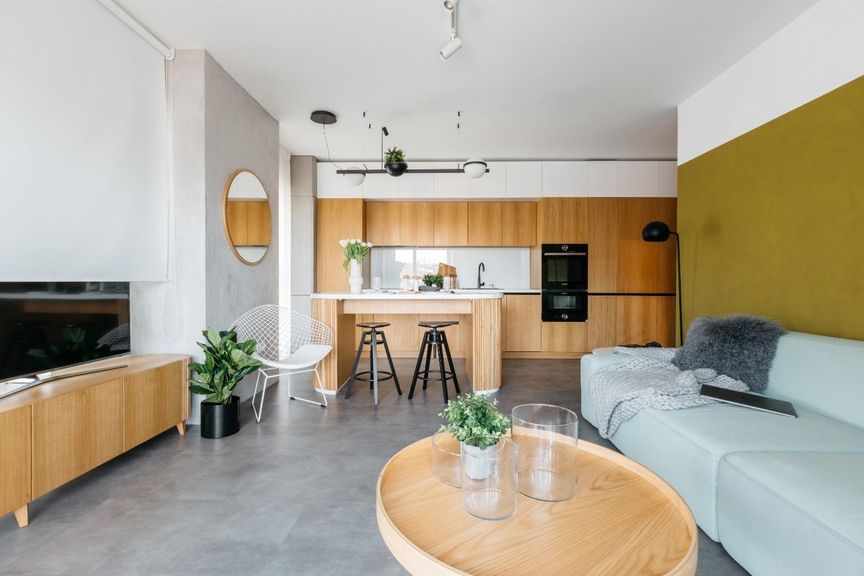 2 mobilier lemn + nucelu verde - interior B1 atelier unuplusunu - cover