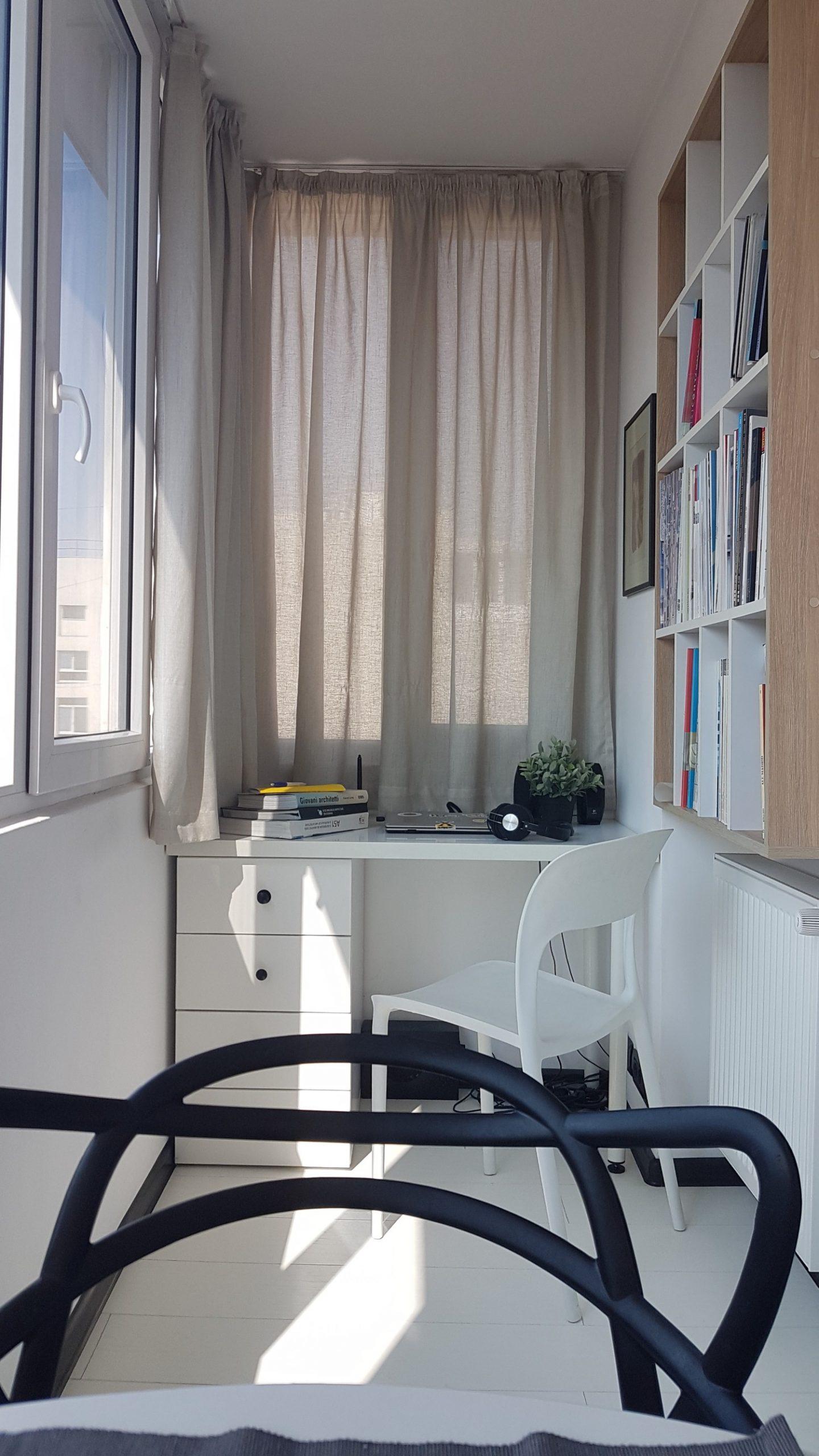 Birou în balcon - arh. Alexandru Călin Space Casuals (1)