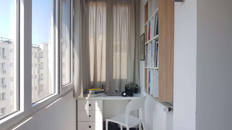 Birou în balcon - arh. Alexandru Călin Space Casuals