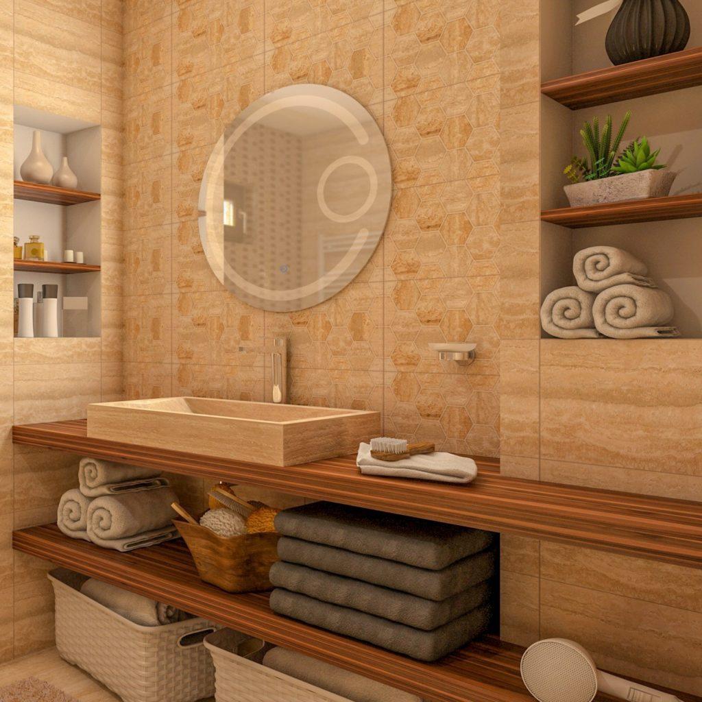 oglindă - led - baie - rotundă