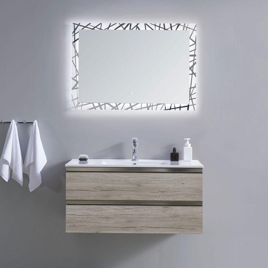 oglindă - led - baie - model