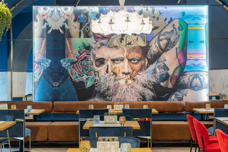 Fototapet Wall&Deco Quisine Timisoara - Amenajare restaurant Pure Mess Design