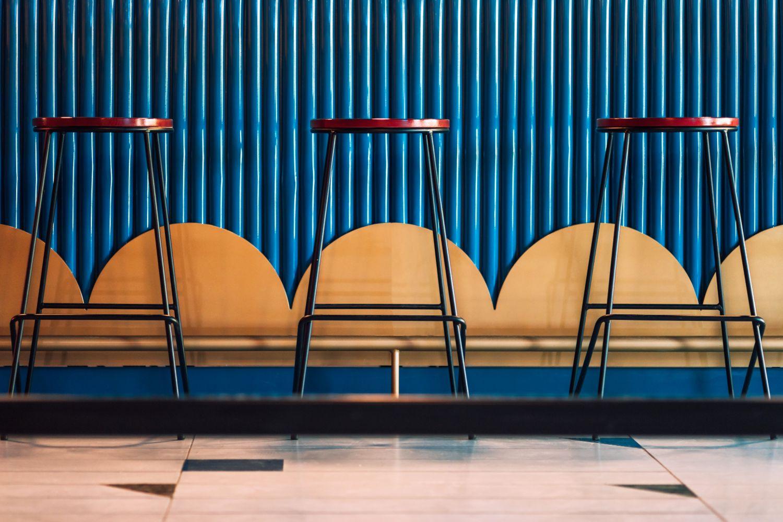 Scaune bar albastru Restaurant Jess Timisoara (10)