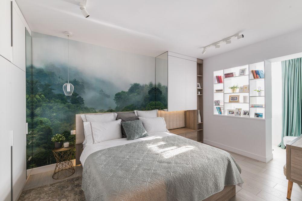 dormitor cu atmosferă relaxantă