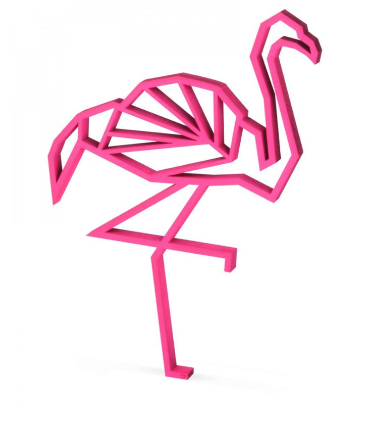 figura decorativa flamingo