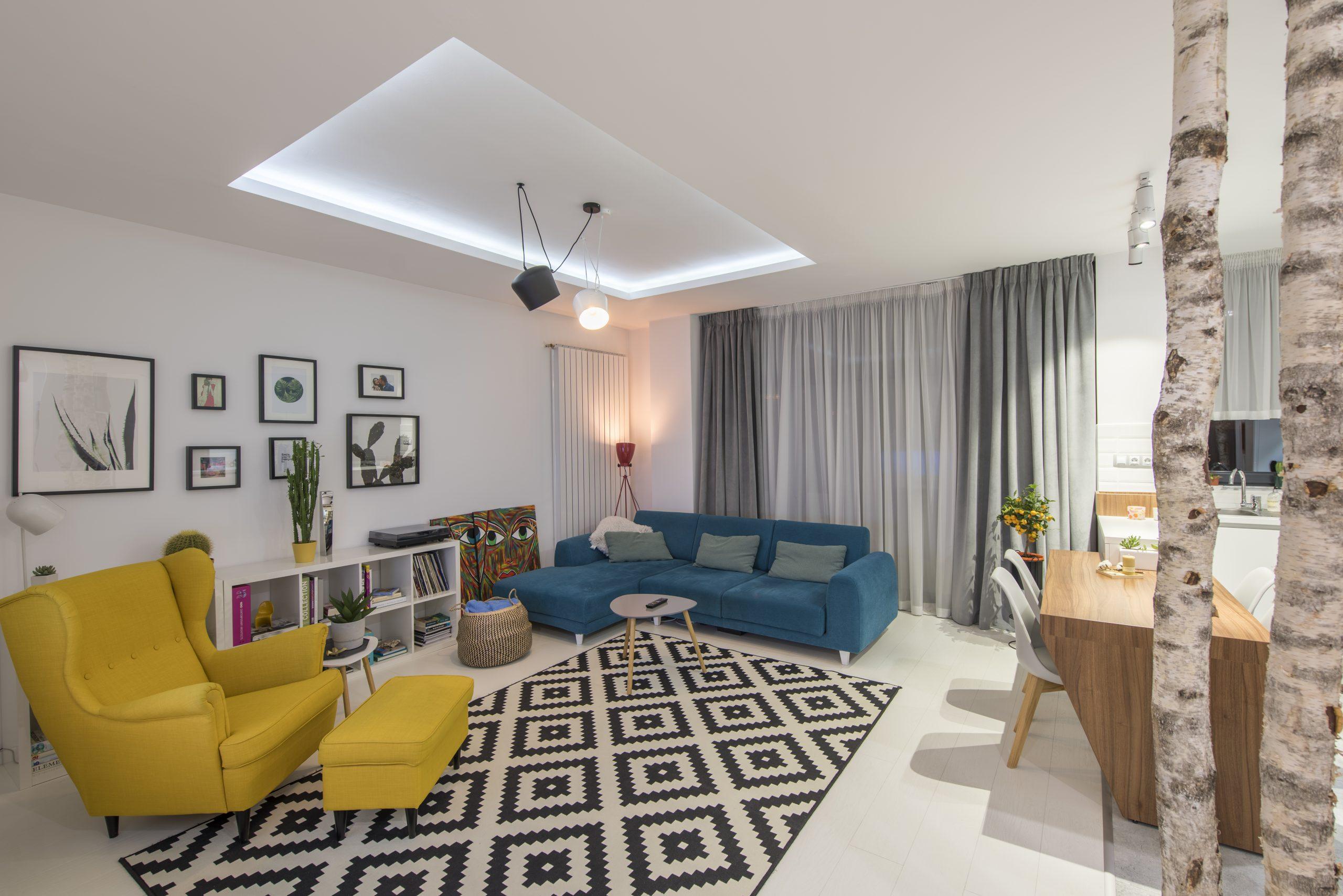 idei amenajare apartament cu 2 camere semidecomandat