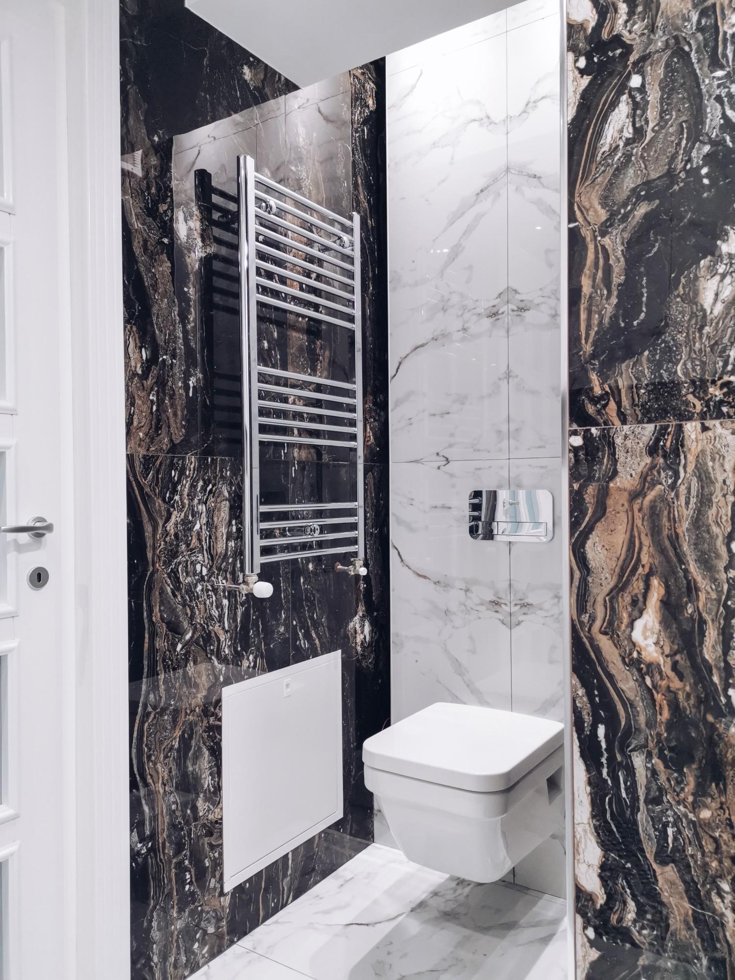 Amenajare baie cu marmură și duș walk-in Iași - PureAmbianceDesign (2)