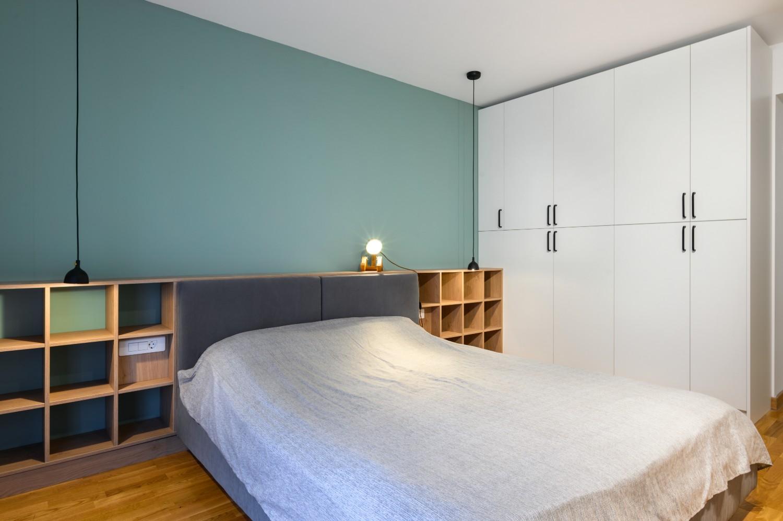 Dormitor cu bleu - amenajare Diez Office (2)