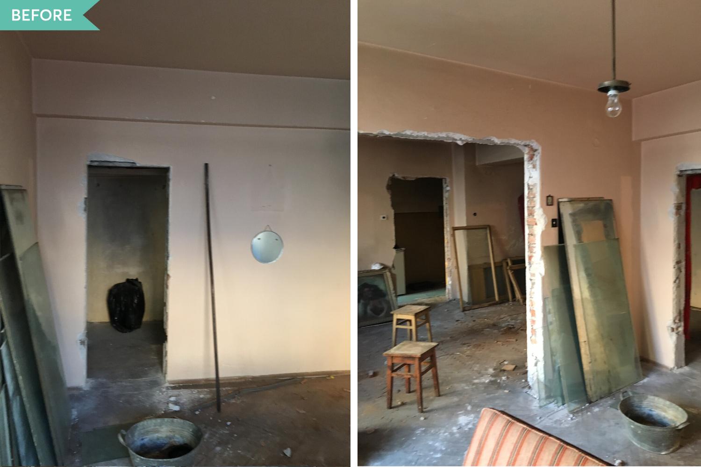 Renovare dormitor apartament vechi - inainte - arh. Cristiana Zgripcea