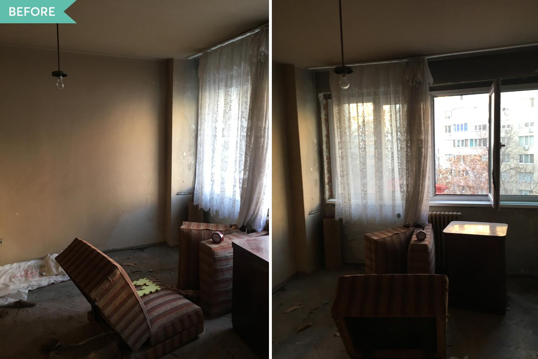 Renovare dormitor apartament vechi - inainte