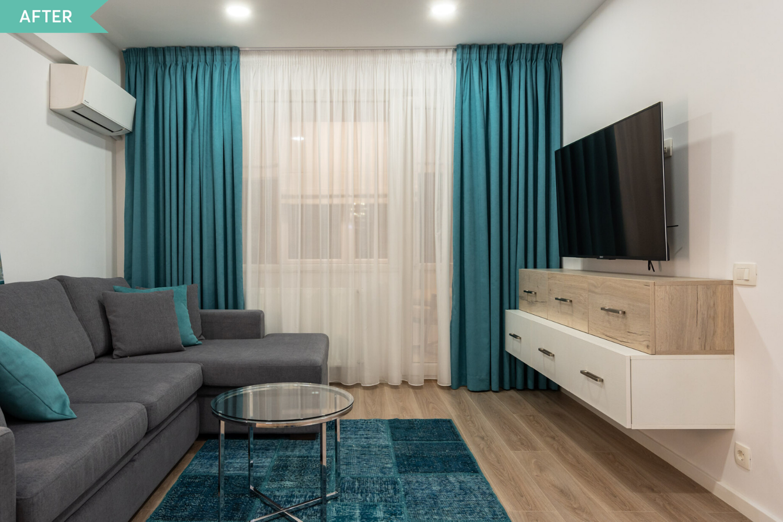 Renovare living apartament vechi - dupa - arh. Cristiana Zgripcea