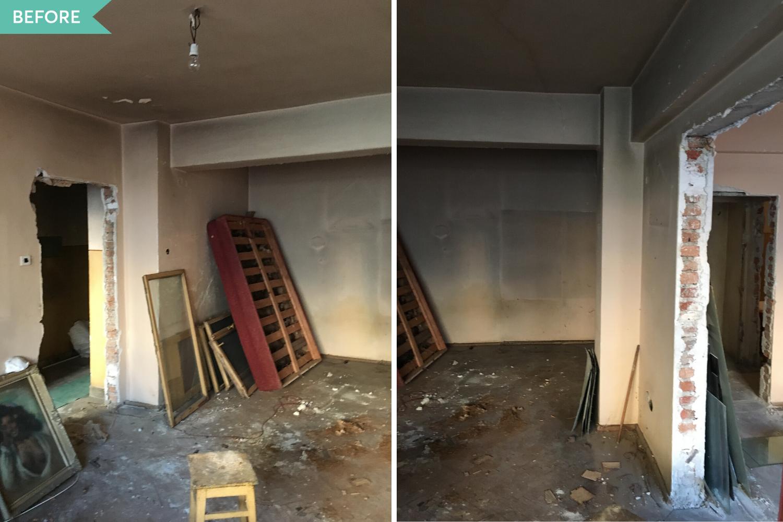 Renovare living apartament vechi - inainte