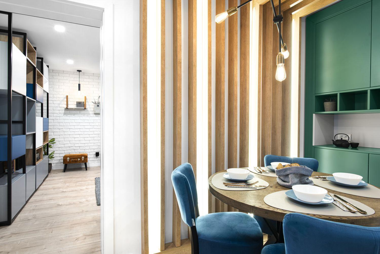apartament de burlac dining