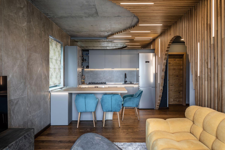 apartament industrial dining
