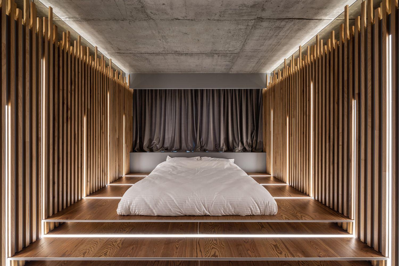 apartament industrial dormitor